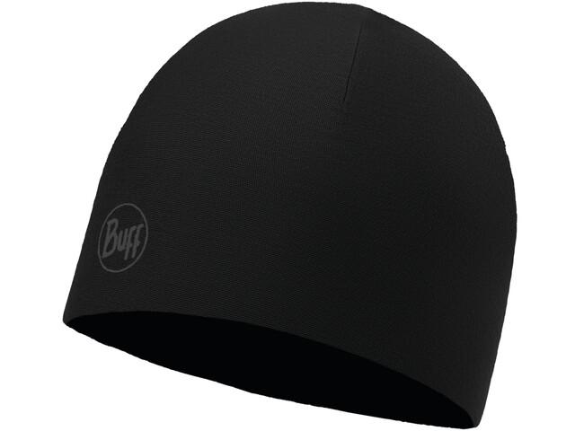 Buff Microfiber Reversible Hat reflective-solid black